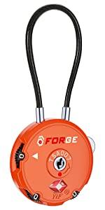 Cable Locks TSA approved luggage lock, pelican case lock, Gun case lock, golf bag lock, tent lock