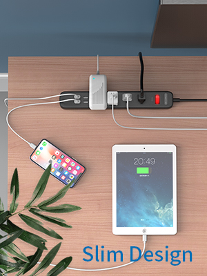 power strip with 2 prong plug
