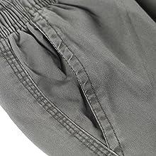 COUSIN CANAL Pantalone Uomo Cotone Cargo Vintage Elastico Loose-Fit Trouser