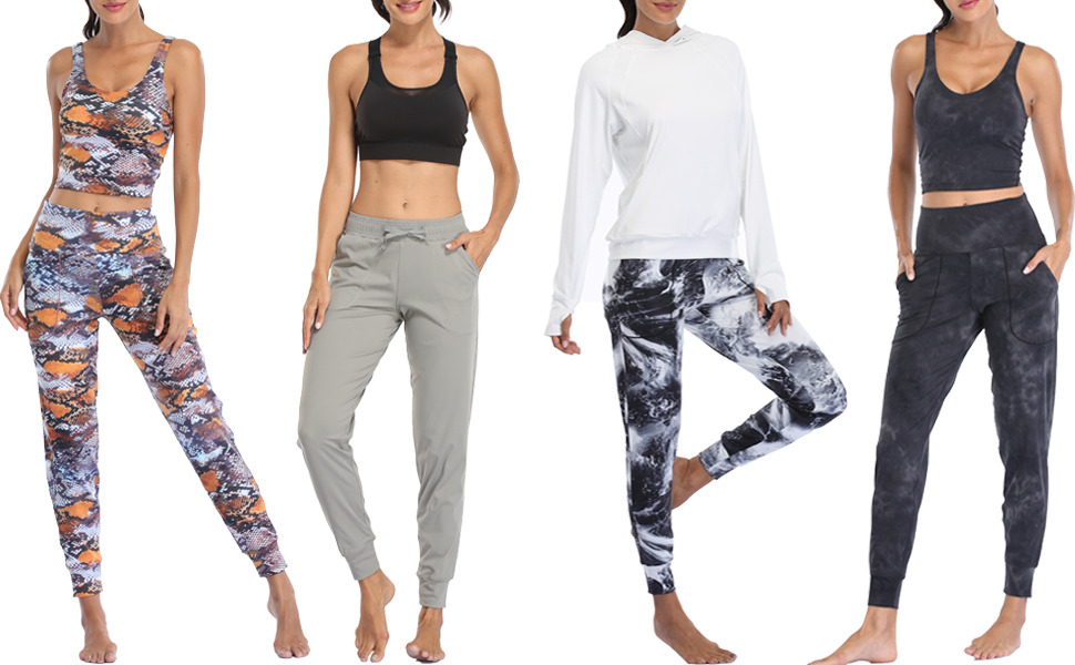 Women Joggers High Waist Yoga Pockets Sweatpants Sport Workout Pants …