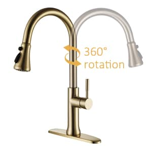 kitchen faucet gold touch