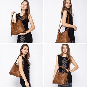 umhängetasche braun damen handtasche damen tasche leder lederimitat tasche damen schultertasche