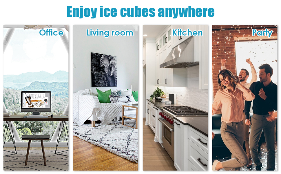 Use ARLIME's ice maker and enjoy your ice cubes.