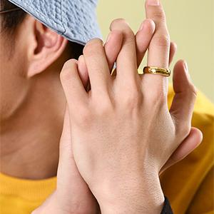 fashion 8MM finger rings for men