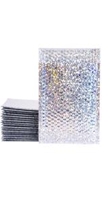"XCGS 6x10"" Silver Laser Bubble Mailer"