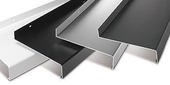 dunkelbronze Aluminium Fensterbank Zuschnitt auf Ma/ß Fensterbrett Ausladung 280 mm wei/ß silber anthrazit