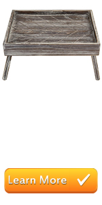 torched brown chevron wood serving tray breakfast trays foldable legs folding trays portable server