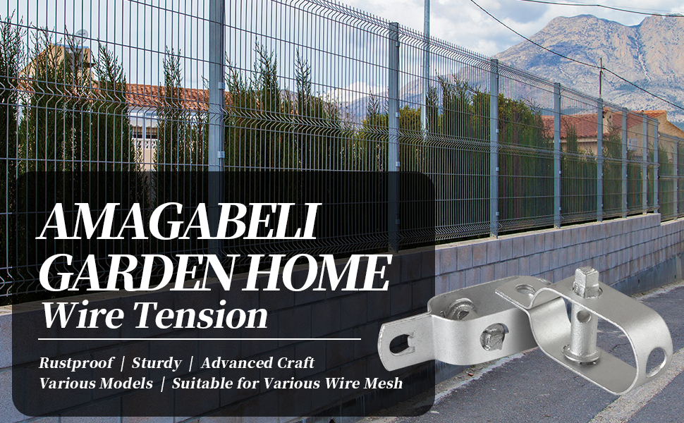10 X Fence Wire Tensioner 2# 95MM Fence Wire Lock Fence Adjuster Garden Wire Fence Roll Kit Geomet Coated Cable Rope Turnbuckle Wire Tensioner Strainer WR6