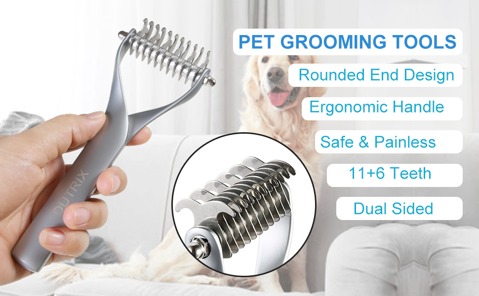 Rounded End design ergonomic handle safe&painless 11+6 teeth dual sided