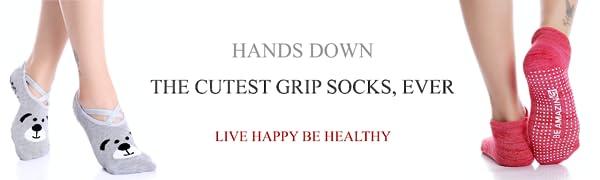 yoga socks for women, men non skip no slip for pilates slippery socks barre maternity labor hospital