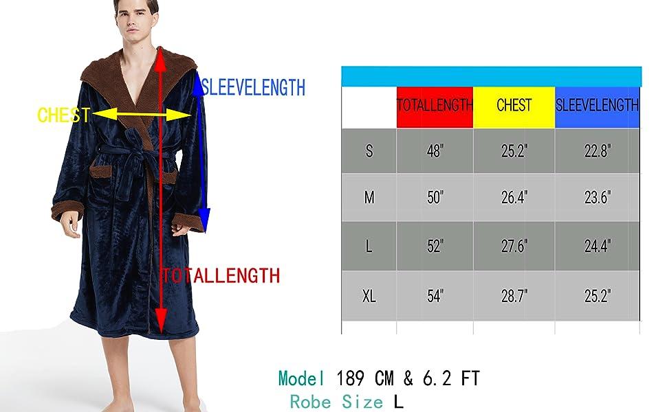 Men's Tibetan blue hooded robes