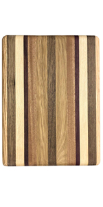 solid wood wooden striped cutting board for vegetables and fruits serving tray made in the usa