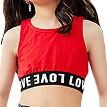red cropped tops