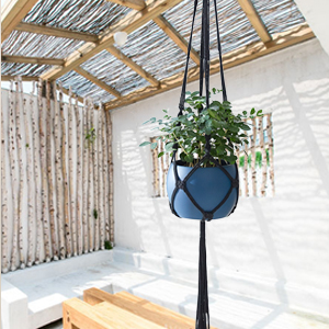 PROTITOUS Macrame Plant Hanger 3pcs Black Indoor