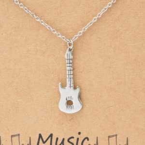 Guitar Musical Instrument Electric Acoustic Musician Necklaces Pendant DOG TAG