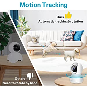 Wireless Pet Camera 1080P FHD, WiFi Dog Camera and Two Way Audio, Indoor Cat Camera Motion Tracking