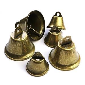rustic vintage bronze jingle bells 25mm 38mm Christmas wedding bells decorations crafting