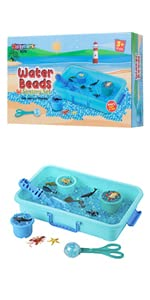 Water Beads with Play Set - Sea Animals
