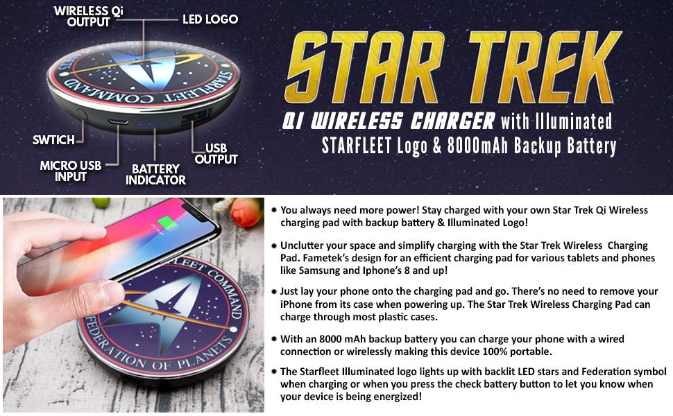 star trek fametek massive speaker bluetooth combadge communicator badge wireless music sounds