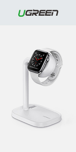 UGREEN Stand for Apple Watch, Desktop iwatch Charging Stand Holder with Night Stand Mode for Apple