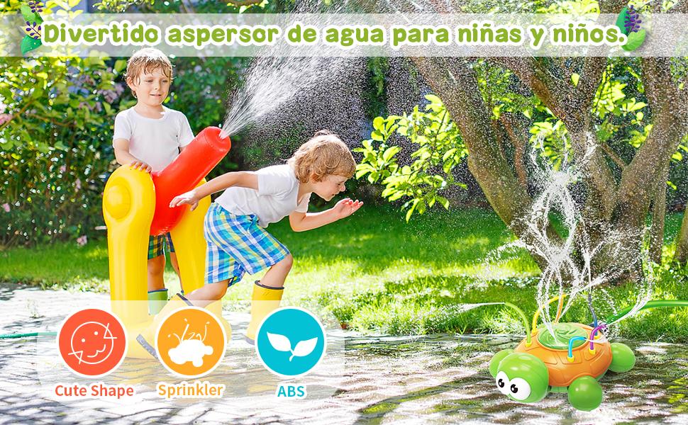 BBLIKE Juguete de Rociadores, Aspersor de Juego de Verano, Jardín de Verano Juguete Acuático para Niños Pulverización para Actividades Familiares Aire Libre /Fiesta /Playa /Jardín: Amazon.es: Juguetes y juegos