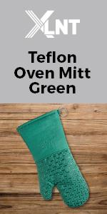 green oven mitt