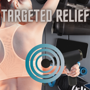 Deep Tissue percussion massager in action