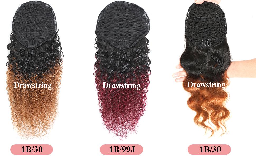 curly ponytail hair