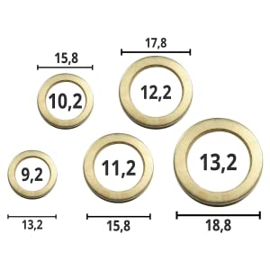 Fitschenringe 50 St/ück///Ø 9//10//11//12//13 mm//Stahl//Unterlegscheiben//Beilagscheiben