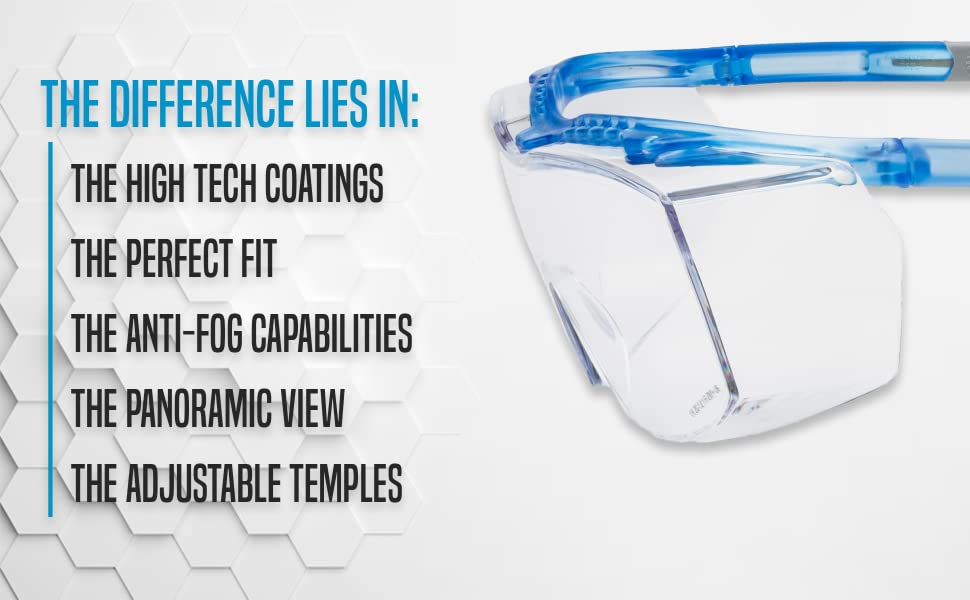 lab medical over glass woodwork eyeglasses ppe construction work proof healthcare surgical frame