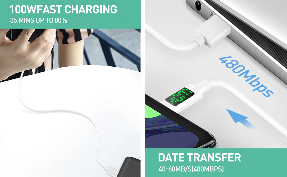 usb type c quick charge cable