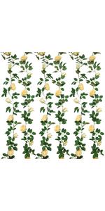 2 Pack Artificial Rose Garlands Rose Vines