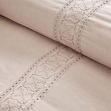 cotton fiber dyed duvet cover set