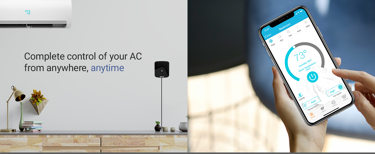 wifi air conditioner, Wi-Fi AC, smart AC, smart air conditioner, WiFi AC, universal AC remote