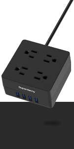 black pivot plug