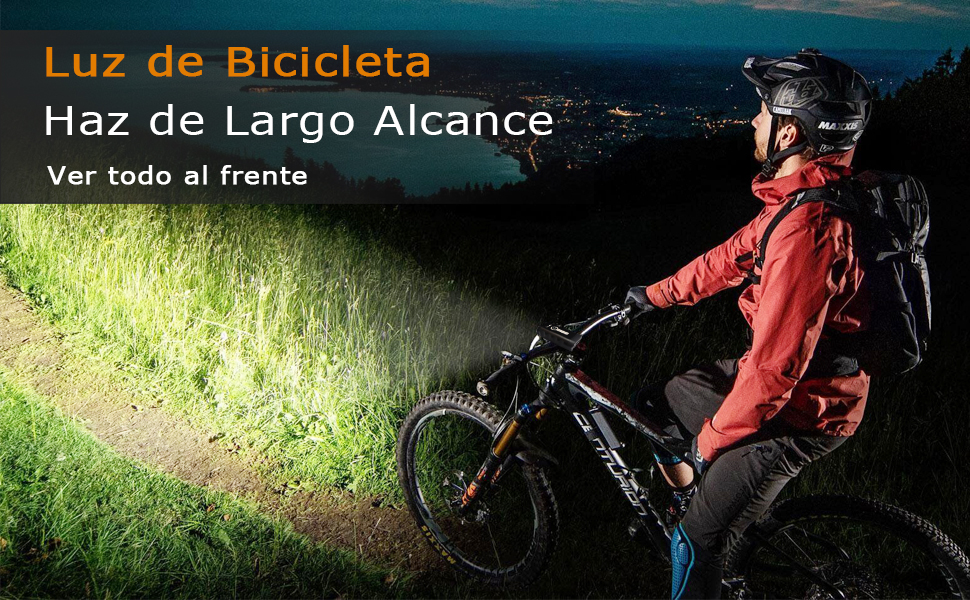 SEWOBYE Luz Bicicleta Led Alta Potencia 2400 Lúmenes, Luces ...