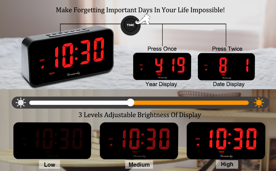 time and date display with regulator