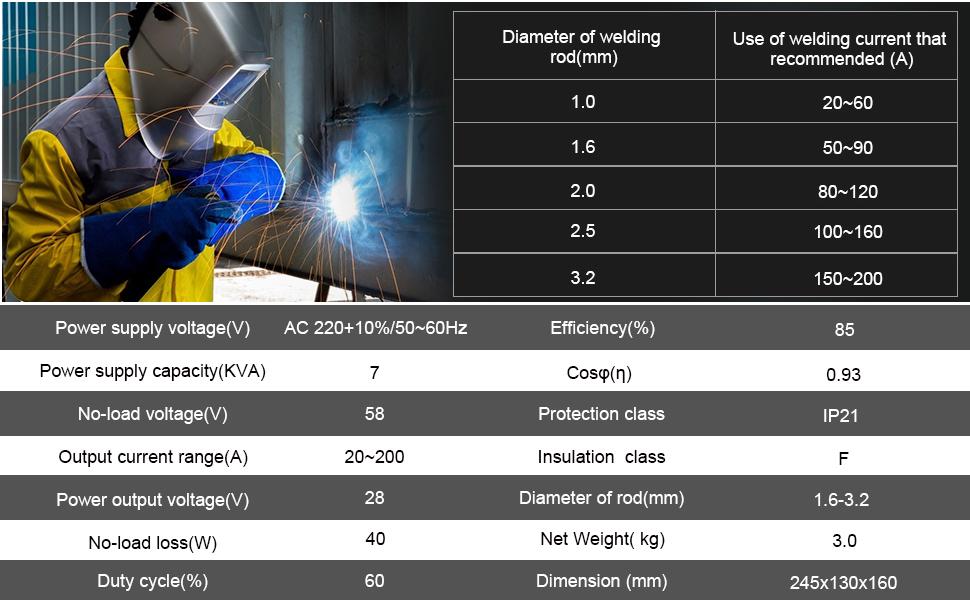 arc stick welder 200amp