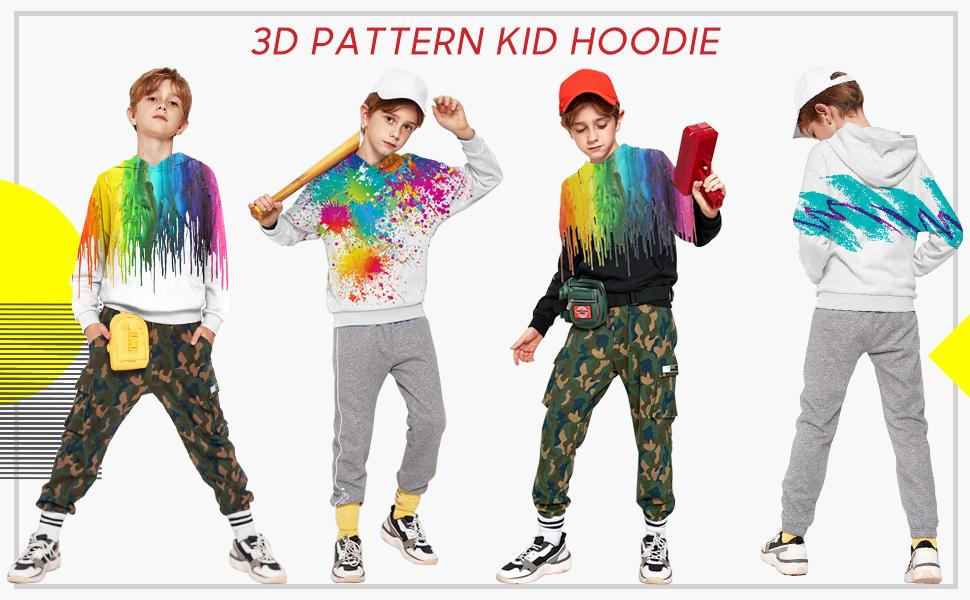 3d printed teens hoodies