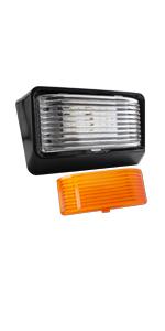 Leisure LED Black RV Exterior Night Motion Sensor Porch Utility Light 12v 300 LM Trailer Camper 5th