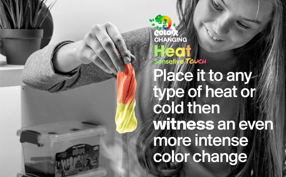 Squeeze Craft Color Changing Frudge Putty Heat Sensitive