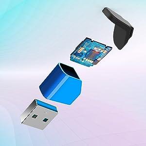 Chiavetta USB 128 Gb + Adattatore Tipo-C a USB A Pen drive 3.0Penna USB 128 gb Pendrive Memoria