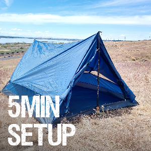 quick set up tent backpacking hiking outdoors fast easy simple 5 min 2 person river country light