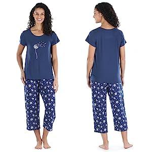 Tee and Capri Pajama Set