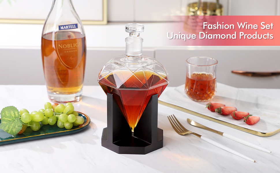 diamond decanter wooden decanter glass decanter