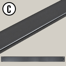 "AxcessAbles RKBLANK1U Universal 1U Blank Rack Panel Spacer for 19""  Rack Cabinet"
