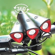 bike front light adjust degree