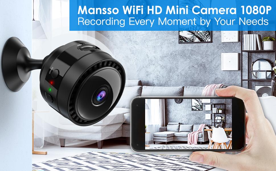 Flashandfocus.com ad5e6cdd-3094-4be2-8615-aaa793aca684.__CR0,0,970,600_PT0_SX970_V1___ Mansso Mini Hidden Camera - 1080P Wireless WiFi Nanny Cam Home Camera,Small Portable Camera with Watch Band,Micro…