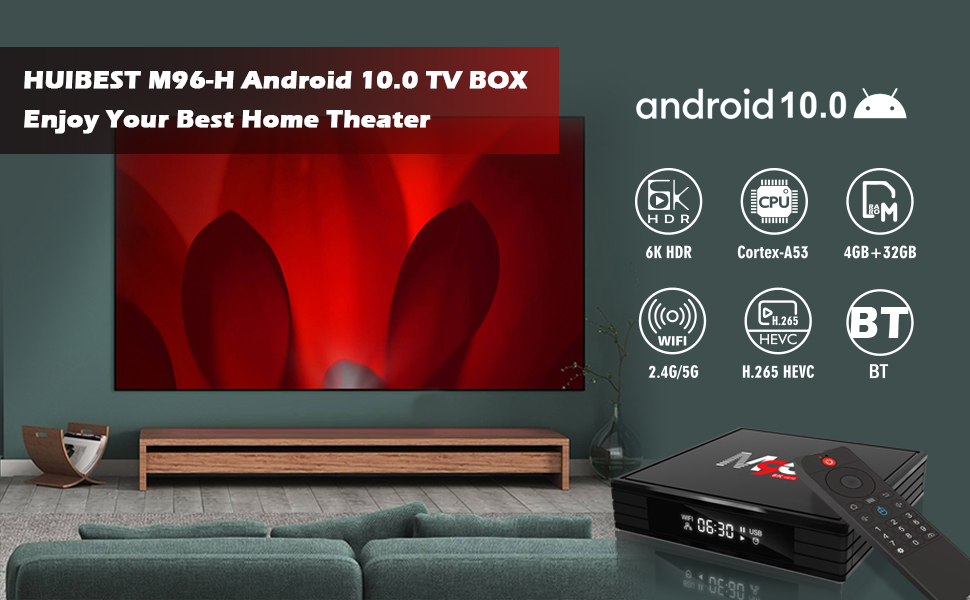 Android tv box 10.0 smart tv box 10.0