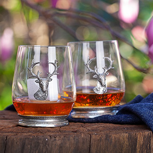 balanced lead free crystal liquor decanter bottle set, unique bourbon decanter gift set for men